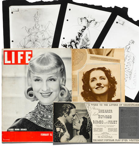 A group of Norma Shearer publications and ephemera