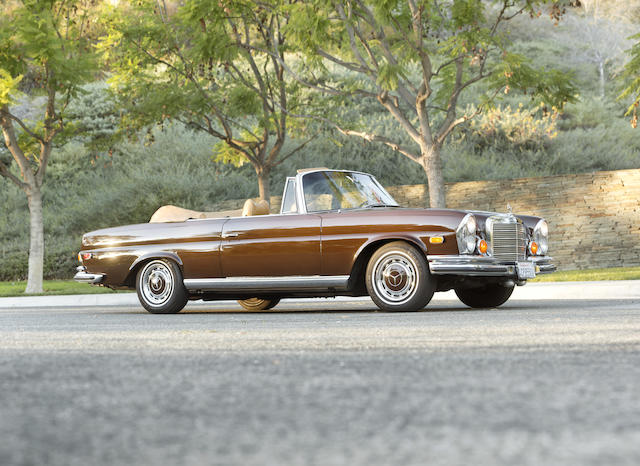 <i>From the collection of Tom Hanks & Rita Wilson</i><br /><b>1971 Mercedes-Benz 280SE 3.5 Cabriolet  </b><br />Chassis no. 111027.12.003741