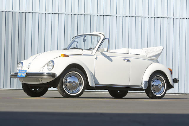 <i>From the collection of Tom Hanks & Rita Wilson</i><br /><b>1979 Volkswagen Super Beetle Convertible  </b><br />Engine no. AJ 141332