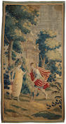 A Flemish Baroque mythological tapestry fragmentsecond half 17th century