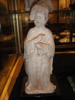 A painted pottery model of a fat lady Tang dynasty