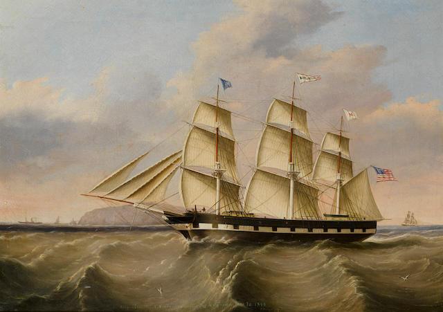 Joseph Heard (British, 1799-1859) The packet ship Katahdin of the Merchant's Line 26 x 36 in. (66 x 91.4 cm.)