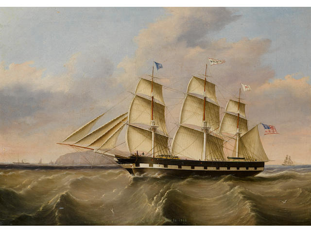 Joseph Heard (British, 1799-1859) The packet ship Katahdin of the Merchant's Line 26 x 36 in. (66 x 91.4 cm.)
