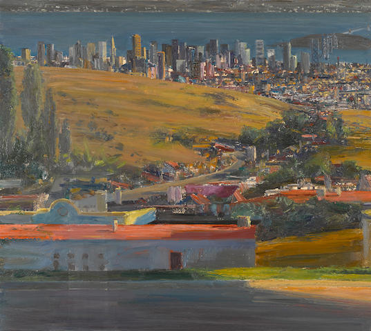 Larry Cohen (born 1952) View of San Francisco from Mt. Parnassus, 1993-2009 32 x 32in. (81.3 x 81.3cm)