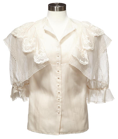 A blouse worn by Piper Laurie on Twin Peaks