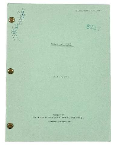 A first draft screenplay of Orson Welles' Touch of Evil