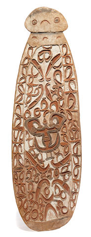 Asmat Shield, probably Weo Village, Pomatsi River,  West Papua Province (Irian Jaya)