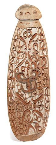 Asmat Shield, probably Weo Village, Pomatsi River,  West Papua Province (Irian Jaya)