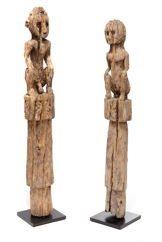 Ancestral Female and Male Figures, Flores Island, East Nusa Tenggara, Lesser Sunda Islands