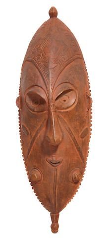 Large Mask, Upper Ramu River Area, Papua New Guinea,from the Queens Surf Barefoot Bar, Waikiki