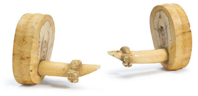 Pair Of Ear Ornaments, Marquesas Islands