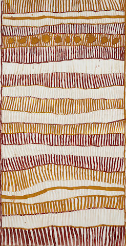 Freda Warlpinni (1928-2003)Rinoja (Pukumani body paint design), 2003