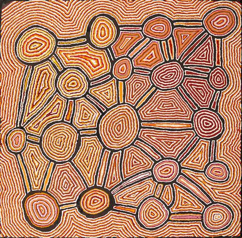 Norma Giles (ca. 1952-)Kapitu Kapitu (Rockhole Sites), 2006
