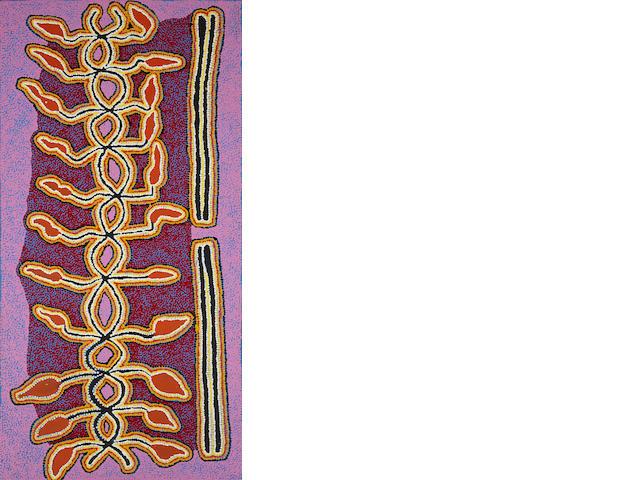 Paddy Stewart (ca. 1935-)Yarla Jukurrpa (Bush Potato Dreaming), 2004
