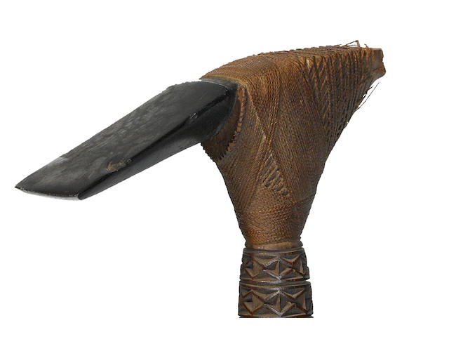 Fine Ceremonial Hafted Adze, Mangaia Island, Cook Islands