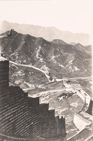 THE GREAT WALL. Group of 3 silver print photographs, 7 3/4 by 9 1/2 inches, 6 1/2 by 4 1/4 inches & 4 3/4 by 3 3/4 inches, [Beijing, 1910-1929],