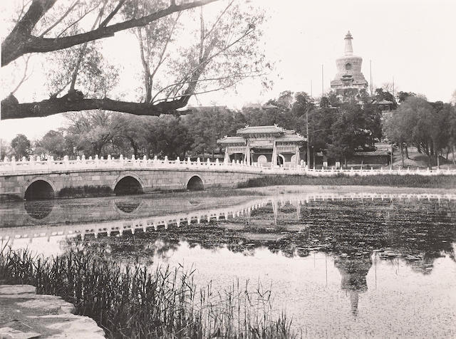 FORBIDDEN CITY. Group of  19 silver print photographs, 9 3/4 by 7 1/8 inches to 6 1/4 by 8 inches, several with titles penciled on verso, [Beijing, 1910-1929],