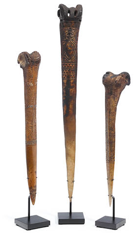 Three Abelam Daggers, Prince Alexander Mountains, Papua New Guinea