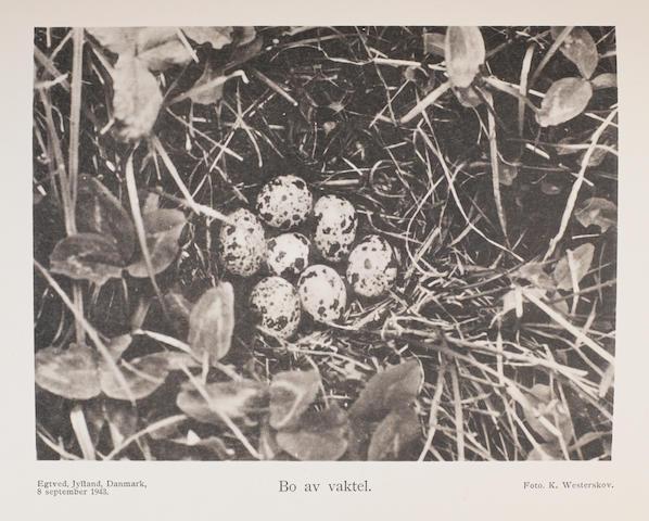 ROSENIUS, PAUL. 1865-1957. Sveriges fåglar och fågelbon. Lund: C.W.K. Gleerups Förlag, 1926-49.