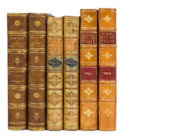 HUME, DAVID. 1711-1776. The History of England. Edinburgh: Hamilton, Balfour, and Neill (volume 1); London: A. Millar (volumes 2-6): 1754-62.