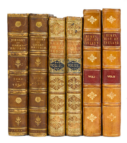 HUME, DAVID. 1711-1776. The History of England. Edinburgh: Hamilton, Balfour, and Neill (volume 1); London: A. Millar (volumes 2-6): 1754-62.