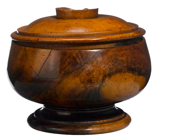 Monarchy Era Presentation Lidded and Footed Bowl, Hawaiian Islands