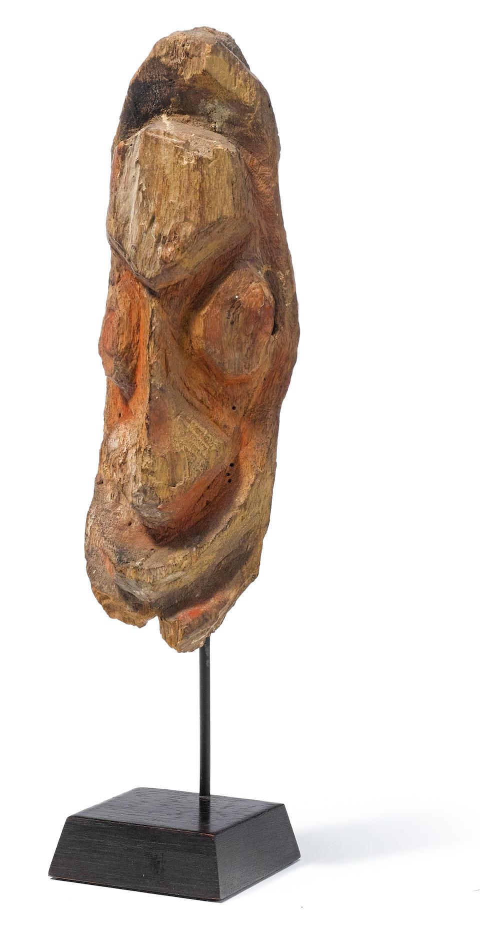 Ewa Fragment Head from an Aripa Figure, Karawari/Krosmeri River Area, Papua New Guinea
