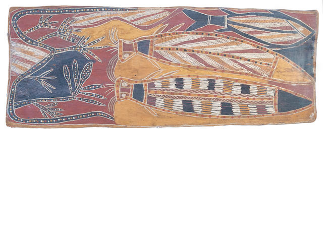 Aboriginal Bark Painting, Australia