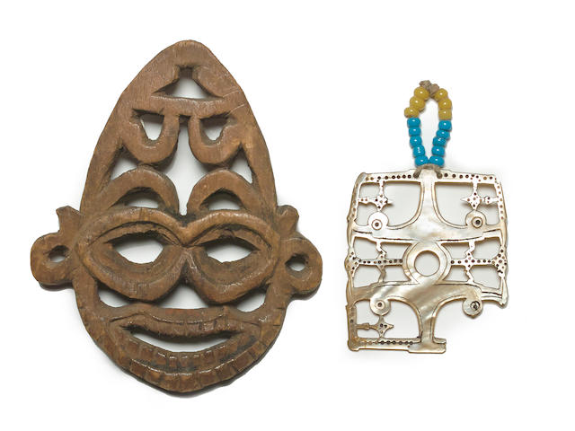Net Float(?) and Pendant, Solomon Islands