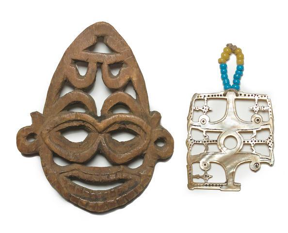 Net Float(?) and Pendant, Solomon Islands
