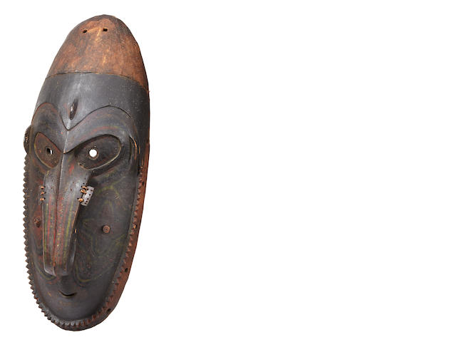 Fine and Large Ramu River Mask, Madang Province, Papua New Guinea