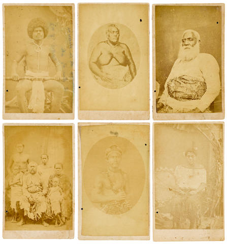 Six Carte De Visites by F.H. Dufty,taken in Levuka Ovalu, Fiji, ca. 1860