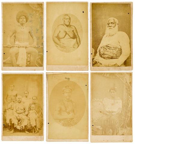 Six Carte De Visites by F.H. Dufty,taken in Levuka Ovalu, Fiji, ca. 1860