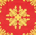 Red and Yellow Floral Quilt, Hawaiian Islands