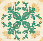 Green, Yellow and White Floral Quilt, Hawaiian Islands