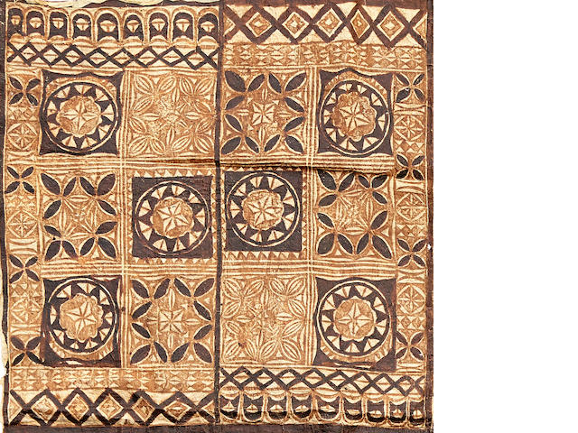 Rare Decorated Barkcloth, Wallis Island