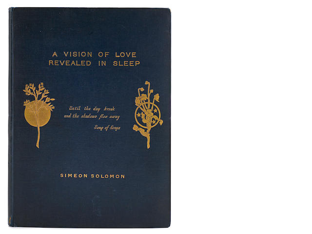 SOLOMON, SIMEON. 1840-1905.  A Vision of Love Revealed in Sleep.  London: printed for the Author, 1871.