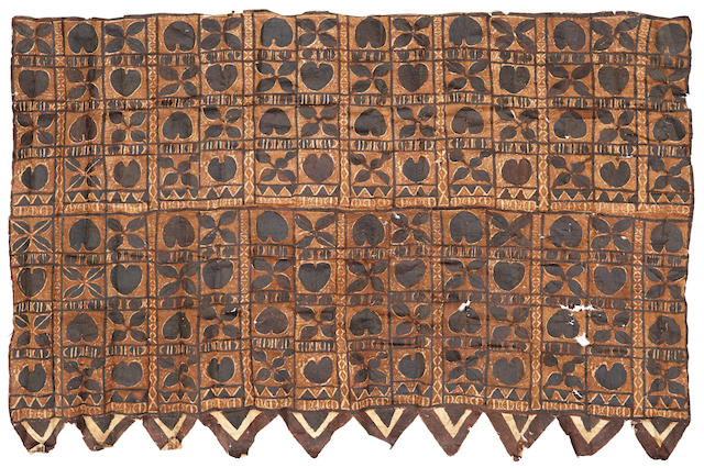Two Historically Important Barkcloths, Samoa Islands