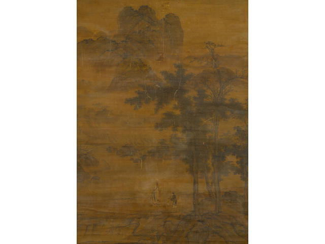 Anonymous, 17/18th century Scholar and Attendant in a Mountainous Landscape