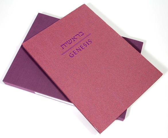 ARION PRESS - MAZUR, MICHAEL, illustrator. [Bible in English & Hebrew] Genesis. 1996.