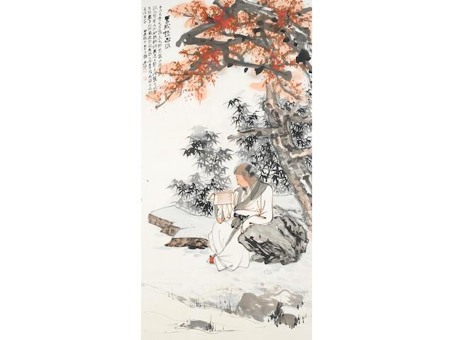 Zhang Daqian (1899-1983)    Self Portrait, The Return of My Sight, 1964