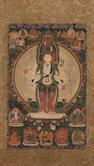 A thangka of Avalokitesvara Sahasrabhuja Qing, 18th century