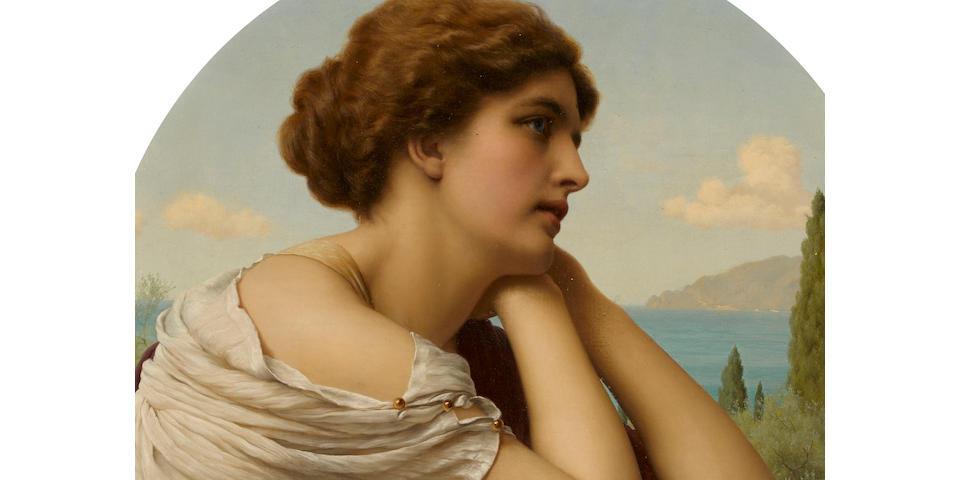 Tito Conti (Italian, 1842-1924) Reverie 26 x 26in (66 x 66cm)
