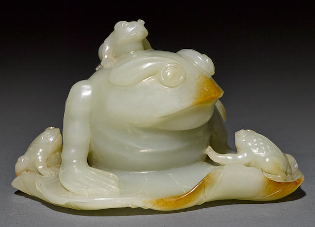 A jade frog group