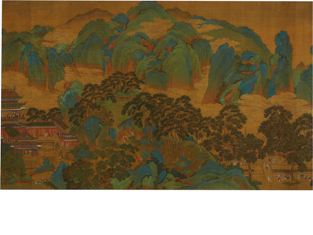 After Yan Wengui (10th c) Blue/Green Landscape, Late Qing Dynasty