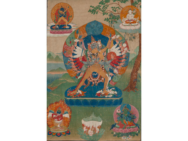 A thangka of Kalacakra Eastern Tibet, Palpung, mid 18th century