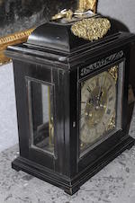 A William III ebony veneered striking bracket clock with pull quarter repeat Jonathan Lowndes, Londoncirca 1700