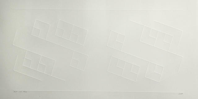 Josef Albers (American, 1888-1976); ELC 1-A, from Embossed Linear Constructions;