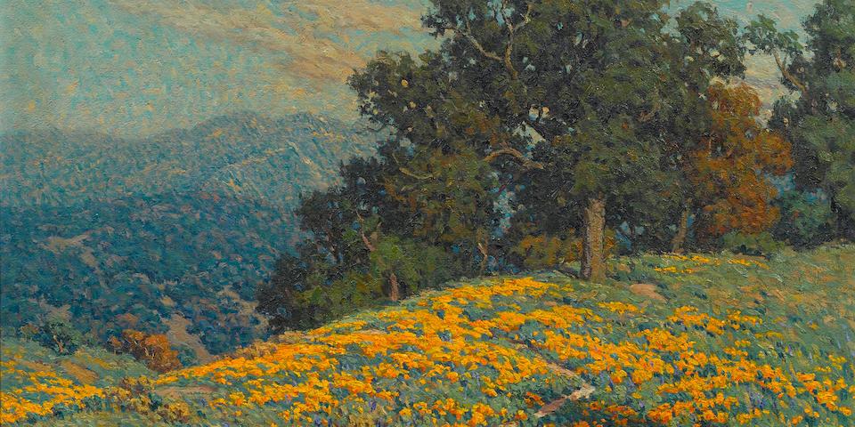 Granville Redmond (American, 1871-1935) Annandale wildflowers 25 x 30in