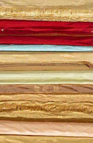 Ten lengths of silk fabric  Republic period